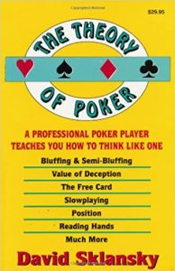The Theory of Poker book